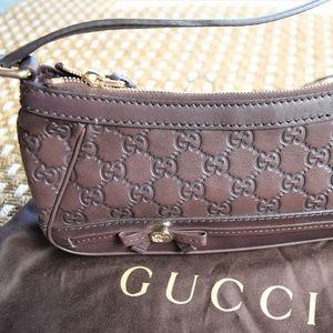 GUCCI Guccissima Small Mayfair Shoulder Bag Brown